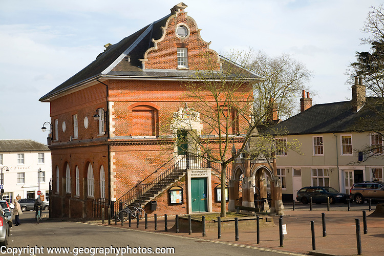 The Shire Hall on Market Hill, Woodbridge, Suffolk, England