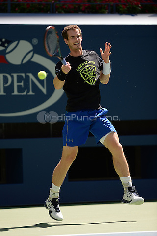 FLUSHING NY- AUGUST 28: Andy Murray on the practice court at the USTA Billie Jean King National Tennis Center on August 28, 2016 in Flushing Queens. Photo by MPI04 / MediaPunch