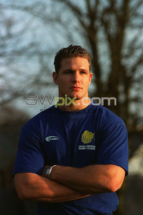 Pix: Ben Duffy/Swpix.com....International Rugby League...Great Britain Rugby League-Stuart Fielden....19/11/2002..COPYRIGHT PICTURE>>SIMON WILKINSON>>01943 436649>>..Great Britains , Stuart Fielden pictured at their teams headquarters in Worsley, Manchester