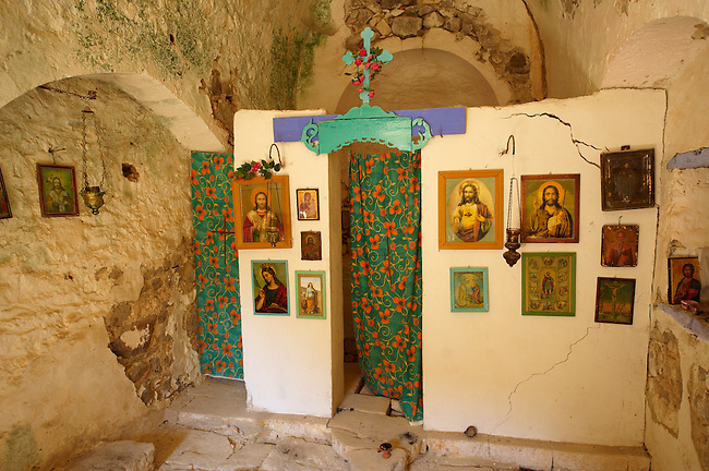 Interior of Ayia Marina,  Paliachora, Aegina, Greek Saronic Islands