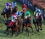 November 3, 2018: Expert Eye #7, ridden by Frankie Dettori, wins the Breeders' Cup Mile on Breeders' Cup World Championship Saturday at Churchill Downs on November 3, 2018 in Louisville, Kentucky. Carolyn Simancik/Eclipse Sportswire/CSM
