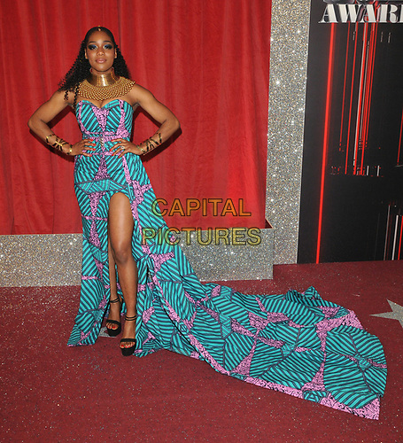 Rachel Adedeji at the British Soap Awards 2019, The Lowry Theatre, Pier 8, The Quays, Media City, Salford, Manchester, England, UK, on Saturday 01st June 2019.<br /> CAP/CAN<br /> ©CAN/Capital Pictures