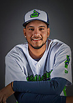 11 June 2019: Vermont Lake Monsters pitcher Carlos Sanchez poses for a portrait on Photo Day at Centennial Field in Burlington, Vermont. The Lake Monsters are the Single-A minor league affiliate of the Oakland Athletics and play a short season in the NY Penn League Stedler Division. Mandatory Credit: Ed Wolfstein Photo *** RAW (NEF) Image File Available ***