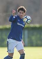 Fraser Hornby of Everton in action during the U23 - Premier League 2 match between Tottenham Hotspur U23 and Everton at Tottenham Training Ground, Hotspur Way, England on 15 January 2018. Photo by Vince  Mignott / PRiME Media Images.