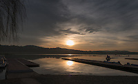 Varese. Lombardia. ITALY. General View. Varese Rowing Club. [Canottieri Varese] Province of Varese.  Sunset <br /> <br /> Monday  02/01/2017<br /> <br /> [Mandatory Credit; Peter Spurrier/Intersport-images]<br /> <br /> <br /> LEICA CAMERA AG - LEICA Q (Typ 116) - 1/2000 - f5.6