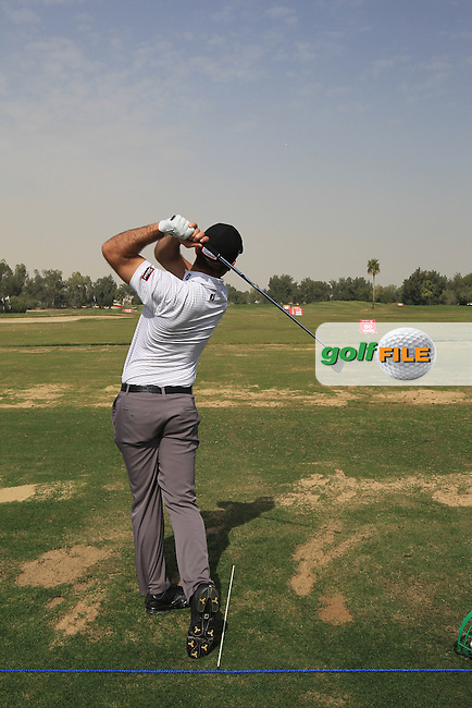 Ricardo Santos (POR) on the practice range during Monday's Practice Day of the Commercial Bank Qatar Masters 2013 at Doha Golf Club, Doha, Qatar 21st January 2013 .Photo Eoin Clarke/www.golffile.ie