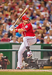 22 August 2015: Washington Nationals first baseman Ryan Zimmerman in action against the Milwaukee Brewers at Nationals Park in Washington, DC. The Nationals defeated the Brewers 6-1 in the second game of their 3-game weekend series. Mandatory Credit: Ed Wolfstein Photo *** RAW (NEF) Image File Available ***