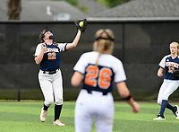 NWA Democrat-Gazette/CHARLIE KAIJO Rogers Heritage High School Sydney Price (22) makes a catch during the 6A State Softball Tournament, Thursday, May 9, 2019 at Tiger Athletic Complex at Bentonville High School in Bentonville. Rogers Heritage High School lost to Northside High School 8-6