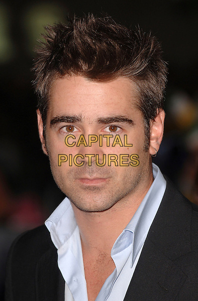 "COLIN FARRELL.""Miami Vice"" UK film premiere, Odeon Leicester Square, London, UK..July 27th, 2006 .Ref: BEL.headshot portrait earring.www.capitalpictures.com.sales@capitalpictures.com.©Tom Belcher/Capital Pictures."