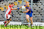 Teddy Doyle  Kenmare and Gavin O'Connor West Kerry in action during their County Championship QF in Fitzgerald Stadium on Sunday