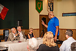 WATERBURY, CT. 17 July 2019-071719 - Republican Rodney Parker, right, interrupts the meeting by trying to nominate another candidate for mayor, as Waterbury Republican Town Committee Chairman Bill DeMaida, left, Joe Bannon, and Allyn DeMaida look on, during a Waterbury Republican Town Committee meeting of picking its slate of candidates for this years elections at Ancient Order of Hibernians Club in Waterbury on Wednesday. Bill Shettle Republican-American