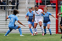 Piscataway, NJ - Sunday April 30, 2017: Raquel Rodriguez, Erin Simon, Sydney Leroux and Daphne Corboz during a regular season National Women's Soccer League (NWSL) match between Sky Blue FC and FC Kansas City at Yurcak Field.