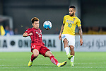 Jiangsu FC Forward Alex Teixeira (R) fights for the ball with Shanghai FC Defender Shi Ke (L) during the AFC Champions League 2017 Round of 16 match between Shanghai SIPG FC (CHN) vs Jiangsu FC (CHN) at the Shanghai Stadium on 24 May 2017 in Shanghai, China. Photo by Marcio Rodrigo Machado / Power Sport Images