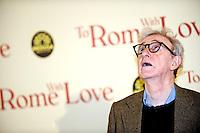 Woody Allen.Roma 13/4/2012 Auditorium.To Rome with Love - World Premiere.Foto Insidefoto Andrea Staccioli