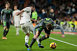 Real Madrid's Dani Carvajal and Real Sociedad's Asier Illarramendi during La Liga match between Real Madrid and Real Sociedad at Santiago Bernabeu Stadium in Madrid, Spain. January 06, 2019. (ALTERPHOTOS/A. Perez Meca)<br />  (ALTERPHOTOS/A. Perez Meca)