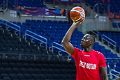 7th September 2017, Fenerbahce Arena, Istanbul, Turkey; FIBA Eurobasket Group D; Russia versus Great Britain; Center Eric Boateng #13 of Great Britain warms up before the start of the match
