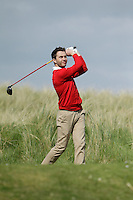 Gerard Dunne (Co. Louth) on the 14th tee during round 2 of The West of Ireland Amateur Open in Co. Sligo Golf Club on Saturday 19th April 2014.<br /> Picture:  Thos Caffrey / www.golffile.ie