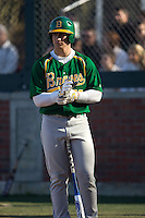 March 19, 2010 - Josh Sale #50 of Bishop Blanchet High School steps into the batter's box during a game against West Seattle High School at Lower Woodland Park Field in Seattle, Washington.