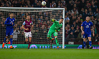 Neil Etheridge of Cardiff City throws from goal during the Sky Bet Championship match between Aston Villa and Cardiff City at Villa Park, Birmingham, England on 10 April 2018. Photo by Mark  Hawkins / PRiME Media Images.