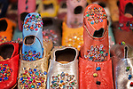 Colorful moroccan children babouches.