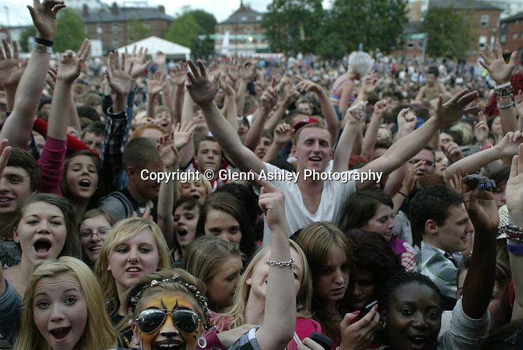 Fans at Tramlines, Sheffield, United Kingdom, 23rd July 2011. Photo by Glenn Ashley.