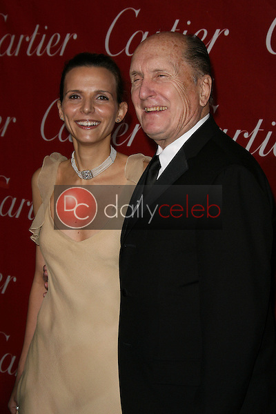 Robert Duvall and wife Luciana Duvall<br /> at the 22nd Annual Palm Springs International Film Festival Awards Gala, Palm Springs Convention Center, Palm Springs, CA. 01-08-11<br /> David Edwards/DailyCeleb.com 818-249-4998