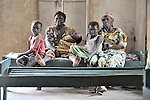 A family visits a patient in the hospital in the remote Congolese village of Minga that was started by Methodist missionaries and is today operated jointly by the United Methodist Church and the Congolese government.