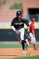 Colorado Rockies Pedro Gonzalez (53) during an Instructional League game against the Los Angeles Angels of Anaheim on October 6, 2016 at the Tempe Diablo Stadium Complex in Tempe, Arizona.  (Mike Janes/Four Seam Images)
