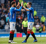 28.04.2019 Rangers v Aberdeen: Lee Wallace and Connor Goldson