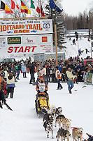 Sigrid Ekran Willow restart Iditarod 2008.