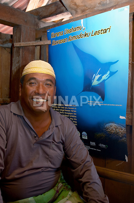 RARE supporter, Papagaran island, Komodo National Park