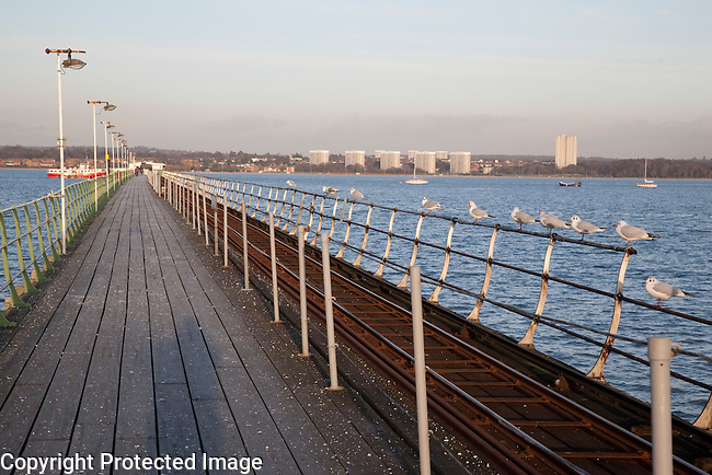 Hythe Pier in Southampton, England, UK