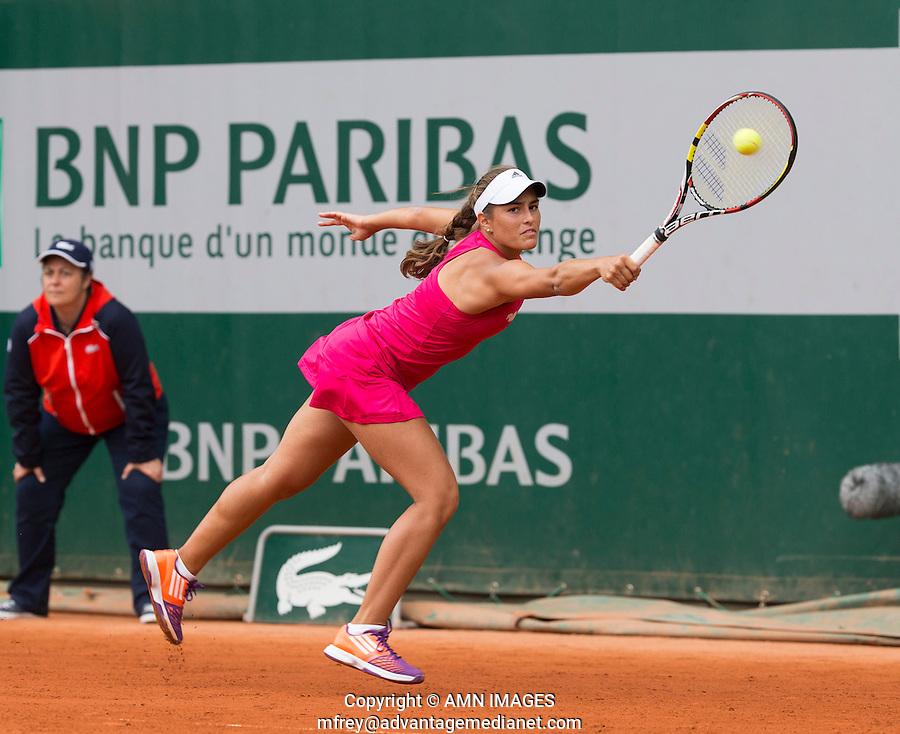 MONICA PUIG (PUR)<br /> <br /> Tennis - French Open 2014 -  Toland Garros - Paris -  ATP-WTA - ITF - 2014  - France -  26 May 2014. <br /> <br /> &copy; AMN IMAGES
