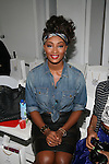 America's Next Top Model's Toccara Jones Attends Edwing D'Angelo Spring Summer 2014 Presentation Held at Studio 450, NY