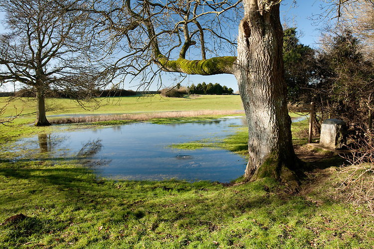 The source of the River Thames at Thameshead near Kemble in Gloucestershire, Uk