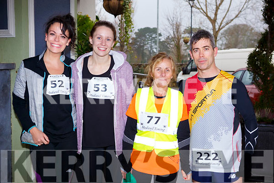 Ready for road at Optimal Fitness 5 & 10k run at the Rose Hotel on New Years Eve morning, l-r, Lisa Madden (Ballymac), Michelle Byrne (Ana), Carmel Foran (Tralee) and Trevor Leen (Tralee).
