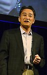 April 26th, 2011, Tokyo, Japan - Kazuo Hirai, Sony Computer Entertainment President and CEO, unveils sony's first tablet computers in Tokyo on Tuesday, April 26, 2011. Sony launched its first tablet computers S1 and S2 which use an operating system based on Google's Android 3.0. (Photo by Koichi Mitsui/AFLO) -tm-.