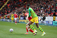Semi Ajayi of West Bromwich Albion fouls Josh Davison of Charlton Athletic during Charlton Athletic vs West Bromwich Albion, Sky Bet EFL Championship Football at The Valley on 11th January 2020
