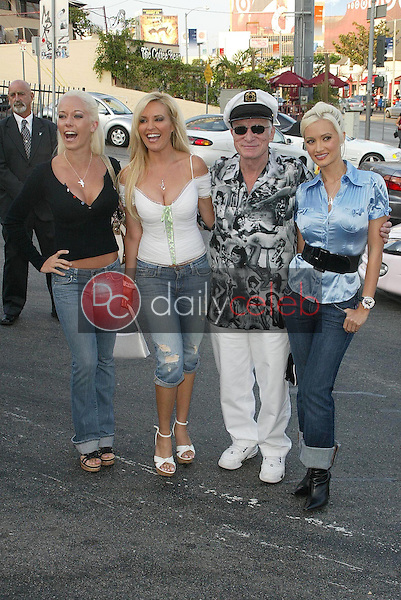 Kendra Wilkinson and Bridget Marquardt with Hugh Hefner and Holly Madison<br />at an in-store signing for The Girls Next Door and Hugh Hefner. Tower Records, West Hollywood, CA. 08-03-06<br />Jason Kirk/DailyCeleb.com 818-249-4998