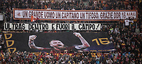 Football, Serie A: AS Roma - Parma, Olympic stadium, Rome, May 26, 2019. <br /> Roma's fans hold banners for Daniele De Rossi before the Italian Serie A football match between Roma and Parma at Olympic stadium in Rome, on May 26, 2019.<br /> UPDATE IMAGES PRESS/Isabella Bonotto