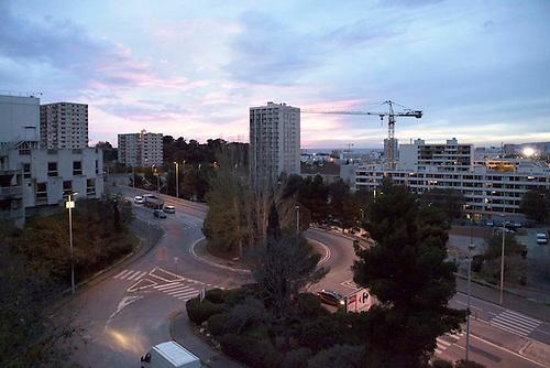 Marseille, France, Dec 2014. Cite de la busserine