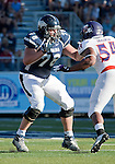September 15, 2012: Nevada Wolf Pack linemen Jeff Nady blocks against the Northwestern State Demon during their NCAA football game played at Mackay Stadium on Saturday afternoon in Reno, Nevada.