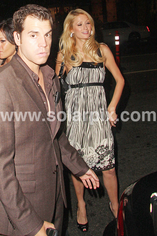 **ALL ROUND PICTURES FROM SOLARPIX.COM**.**WORLDWIDE SYNDICATION RIGHTS**.**NO PUBLICATION IN USA, DENMARK, GERMANY OR RUSSIA**.Paris Hilton out for a night on the town at CoCo De Ville night club in West Hollywood USA.This pic: Paris Hilton.JOB REF:  7065     LAP/Lancer-Gt       DATE: 20.08.08.**MUST CREDIT SOLARPIX.COM OR DOUBLE FEE WILL BE CHARGED* *UNDER NO CIRCUMSTANCES IS THIS IMAGE TO BE REPRODUCED FOR ANY ONLINE EDITION WITHOUT PRIOR PERMISSION*