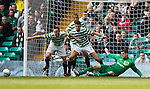 Panic in the box as Celtic clear their lines.