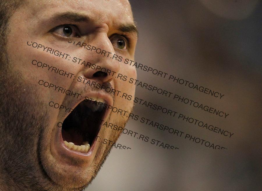 Kosarka ABA League season 2014-2015<br /> Partizan v Crvena Zvezda<br /> Milan Macvan reacts<br /> Beograd, 01.03.2015.<br /> foto: Srdjan Stevanovic/Starsportphoto&copy;