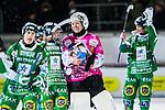 Stockholm 2013-11-26 Bandy Elitserien Hammarby IF - Edsbyns IF :  <br /> Hammarby m&aring;lvakt Patrik Hedberg &auml;r glad med lagkamrater efter matchen<br /> (Foto: Kenta J&ouml;nsson) Nyckelord:  jubel gl&auml;dje lycka glad happy