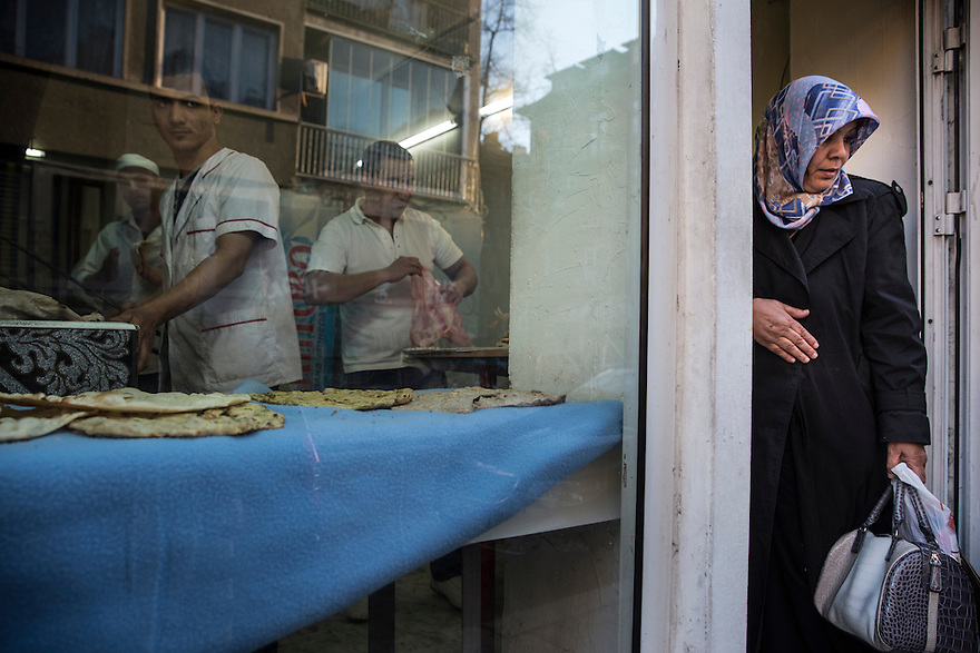 "SOFIA, BULGARIA- An Iraqi owned bread shop onTsar Simeon Street, also called ""Arab Street,"" an immigrant area in Sofia."