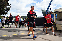 Chris Wyles and the rest of the Saracens team arrive at the Recreation Ground. Aviva Premiership match, between Bath Rugby and Saracens on September 9, 2017 at the Recreation Ground in Bath, England. Photo by: Patrick Khachfe / Onside Images