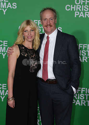 WESTWOOD, CA - DECEMBER 07: Matt Walsh, Morgan Walsh arrives at the premiere of Paramount Pictures' 'Office Christmas Party' at Regency Village Theatre on December 7, 2016 in Westwood, California.  (Credit: Parisa Afsahi/MediaPunch).
