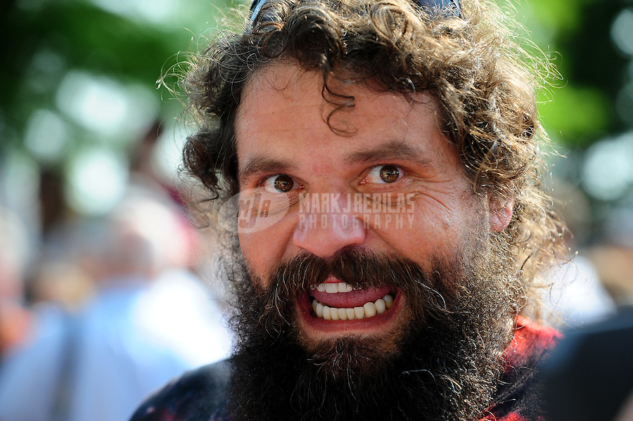 May 30, 2010; Indianapolis, IN, USA; Rupert Boneham during the Indianapolis 500 at the Indianapolis Motor Speedway. Mandatory Credit: Mark J. Rebilas-
